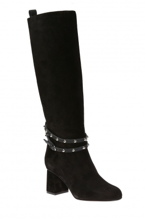 Knee high, heeled boots od Valentino Red