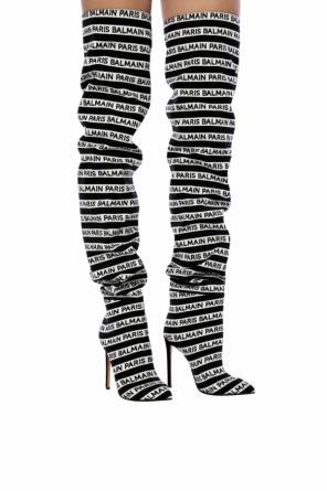 21045fa415c Heeled thigh-high boots od Balmain ...