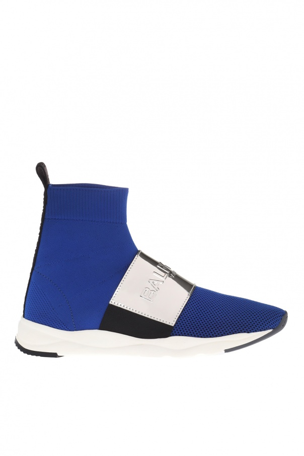 1da9178de1e High-top sneakers with sock Balmain - Vitkac shop online