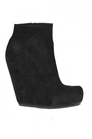 Suede wedge ankle boots od Rick Owens