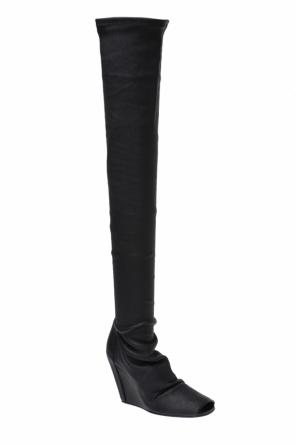 Leather wedge boots od Rick Owens