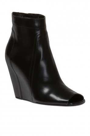 Wedge ankle boots with open toe od Rick Owens