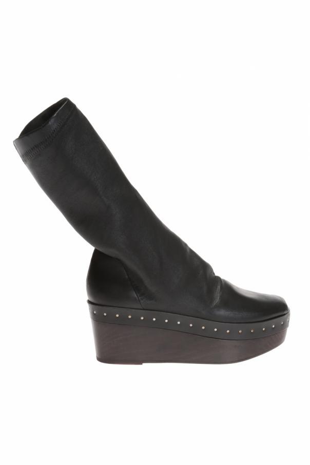 Rick Owens Wooden platform ankle boots