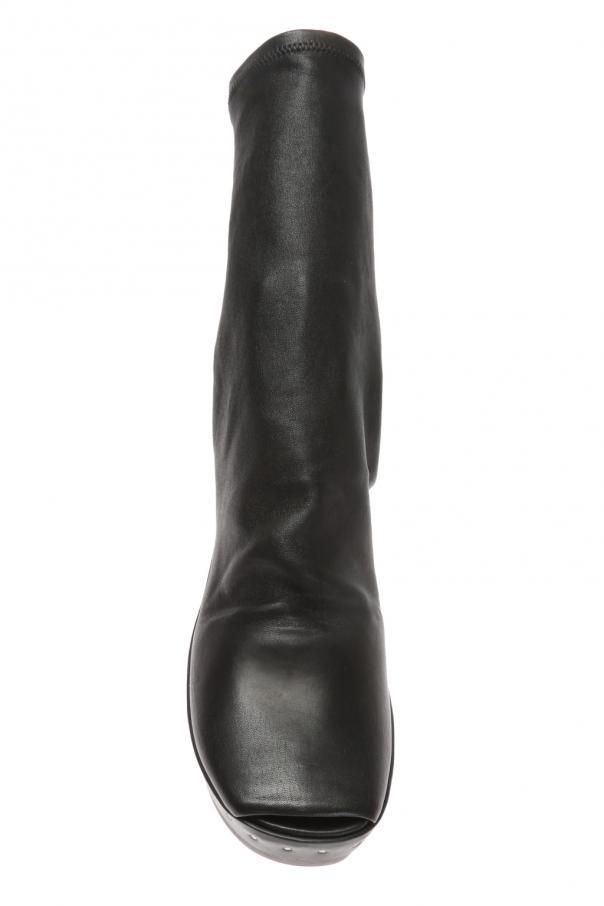 Wooden platform ankle boots od Rick Owens