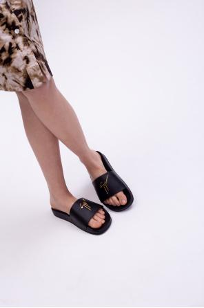 'newlaburela' leather slides od Giuseppe Zanotti