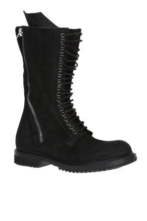 Suede ankle boots with zippers od Rick Owens