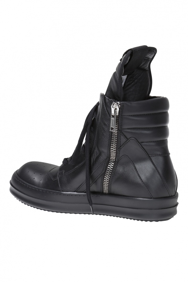 'geobasket' leather high-top sneakers od Rick Owens