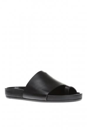 Leather sliders od Rick Owens