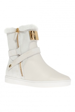 Fur-trimmed ankle boots od Giuseppe Zanotti