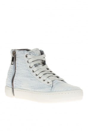 's-nentish' denim high-top sneakers od Diesel