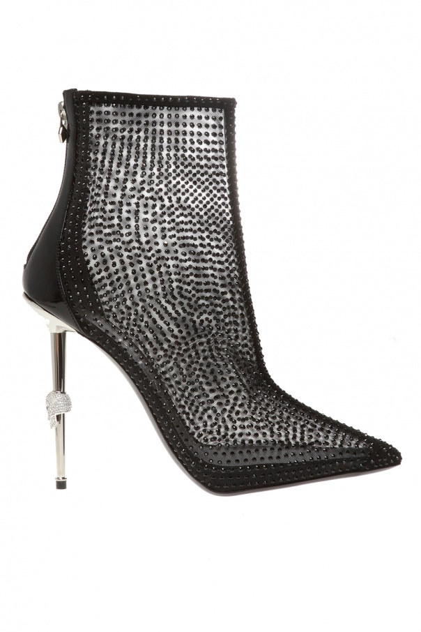 Philipp Plein Translucent heeled ankle boots