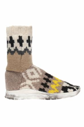 High-top sneakers with wool sock od Maison Margiela