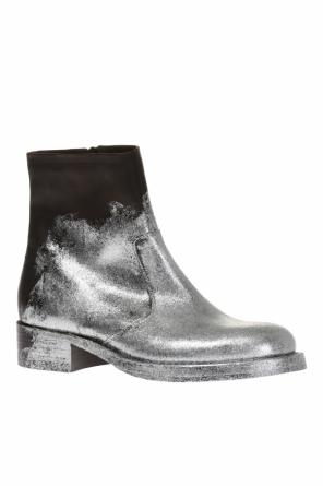 Glitter finish leather boots od Maison Margiela