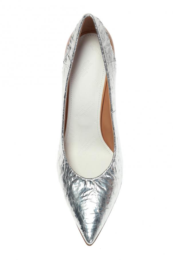 Printed stiletto pumps od Maison Margiela
