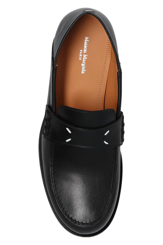 Maison Margiela Leather moccasins with logo