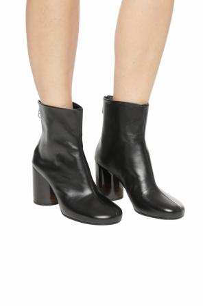Leather heeled ankle boots od Maison Margiela