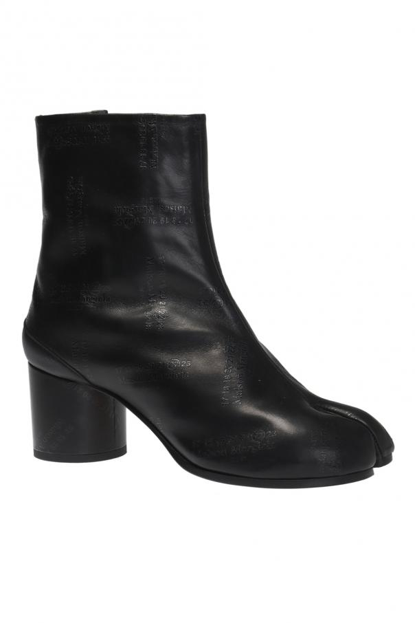 Heeled ankle boots with logo od Maison Margiela
