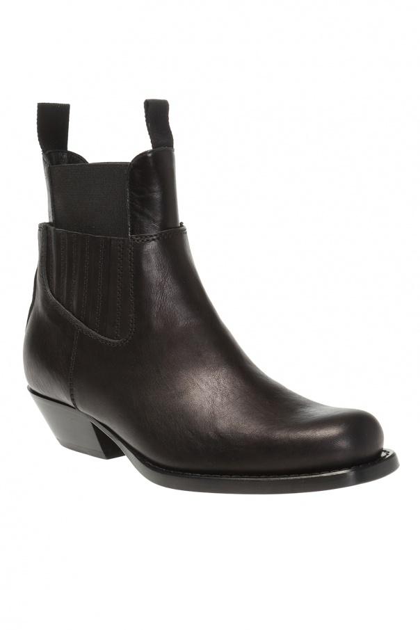 Mm6 maison margiela的黑色皮靴 od MM6 Maison Margiela