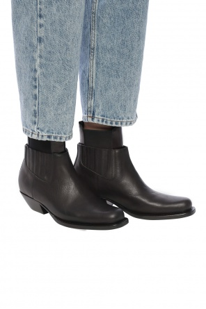 Heeled leather ankle boots od MM6 Maison Margiela