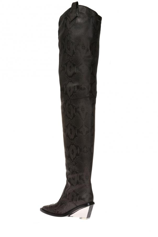 c0f83d2a895 Over-the-knee heeled boots MM6 Maison Margiela - Vitkac shop online
