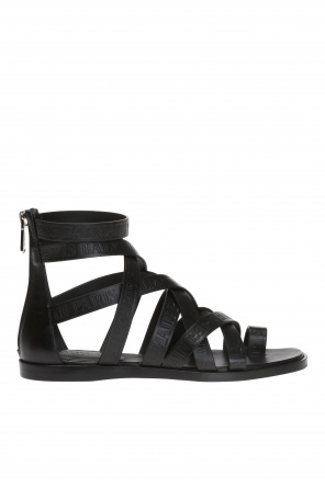 Logo-embossed sandals od Balmain