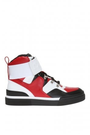 Perforated high-top sneakers od Balmain