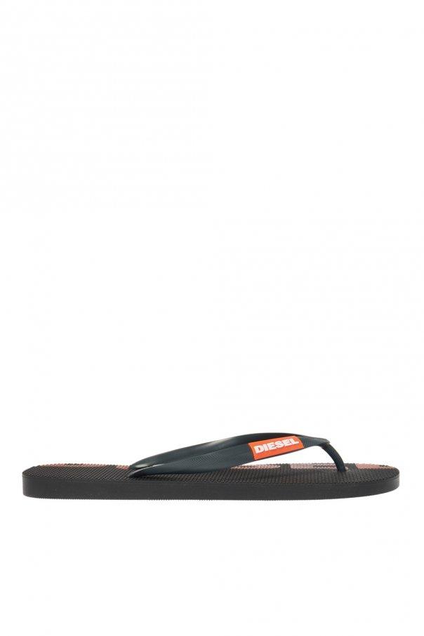Diesel 'Sa-Briian' flip-flops with logo