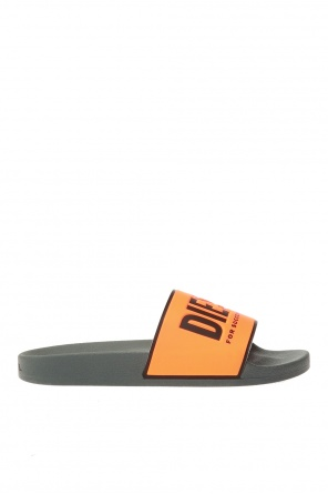 Rubber slides with logo od Diesel