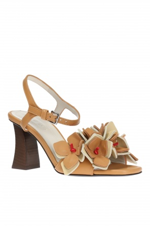Appliqued heeled sandals od Marni