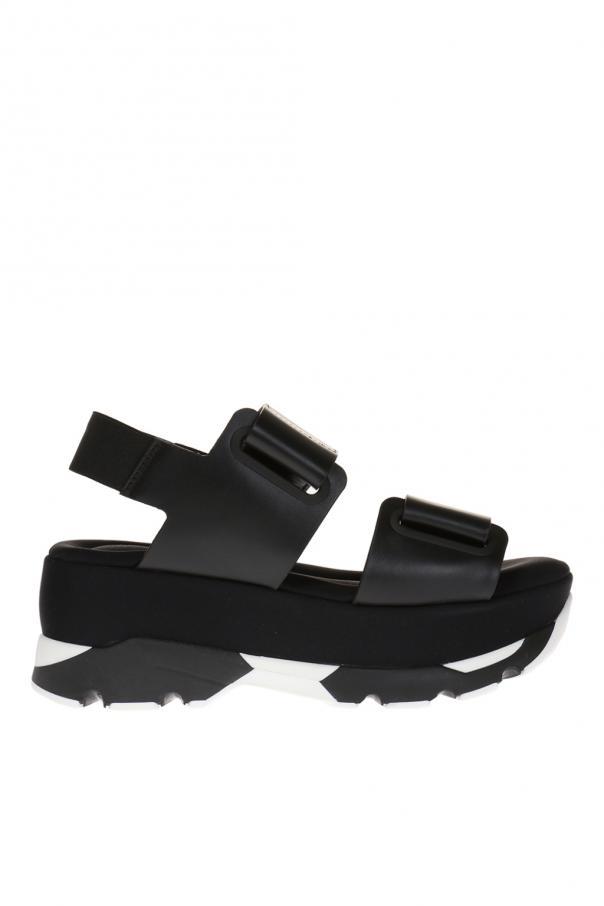9332dcc002e368 Skórzane sandały na platformie Marni - sklep internetowy Vitkac