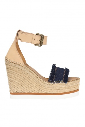 Wedge sandals with fringes od See By Chloe