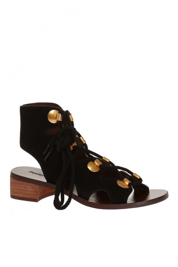 suede sandals see by chloe vitkac shop online. Black Bedroom Furniture Sets. Home Design Ideas