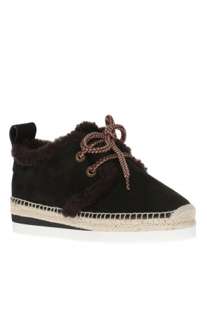 Lace-up shoes with fur od See By Chloe
