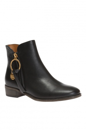 Chelsea boots with metal loop od See By Chloe