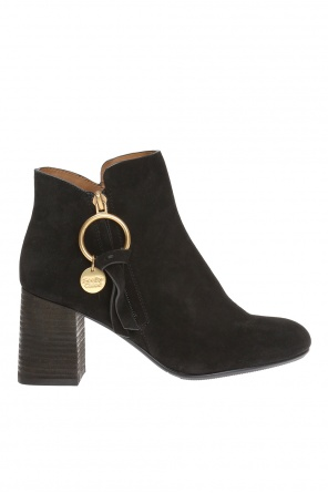 Heeled ankle boots with metal loop od See By Chloe