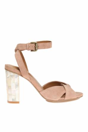 Heeled sandals with pearl effect od See By Chloe
