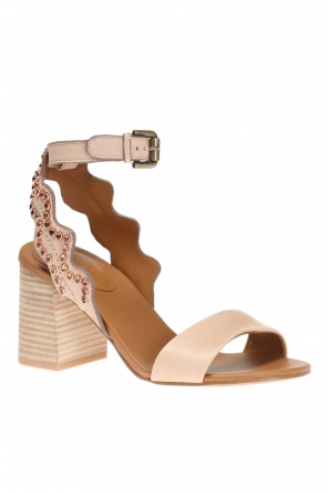 Heeled sandals encrusted with stones od See By Chloe