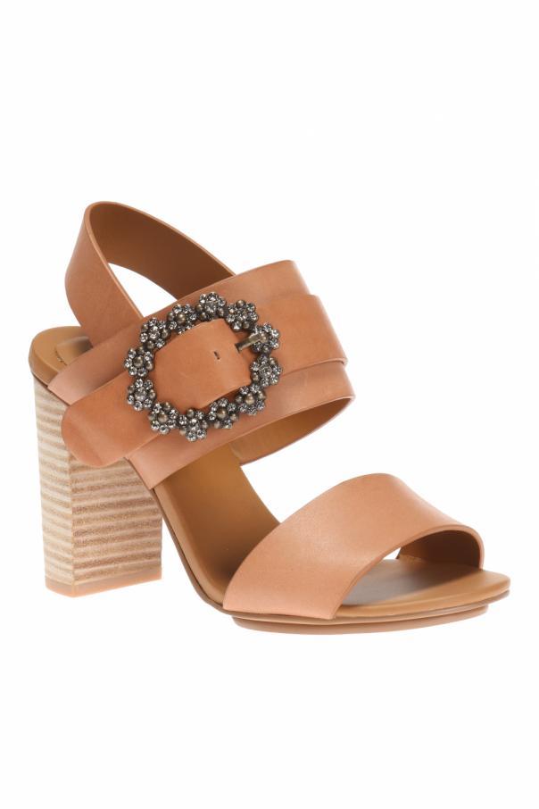 heeled sandals with buckle see by chloe vitkac shop online. Black Bedroom Furniture Sets. Home Design Ideas