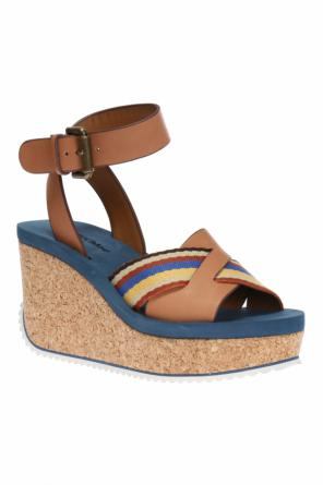 Wedge sandals with colourful insert od See By Chloe