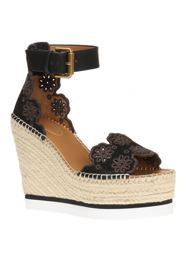 640db215a7 Openwork wedge sandals See By Chloe - Vitkac shop online