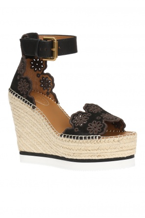 Openwork wedge sandals od See By Chloe