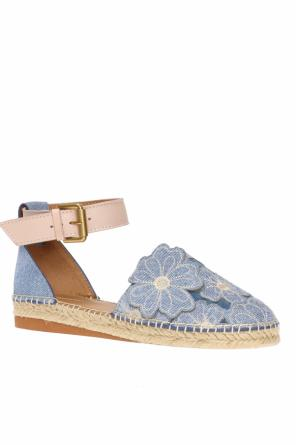 Patched denim espadrilles od See By Chloe