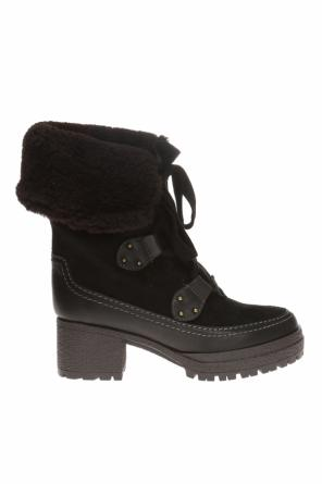 'claudia' padded platform boots od See By Chloe