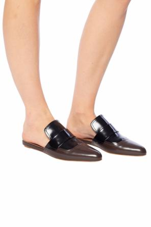 Leather sliders od Marni