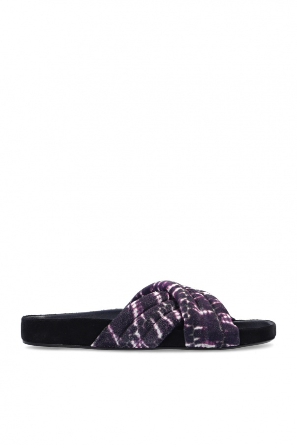 Isabel Marant 'Velvet Tie' leather slides
