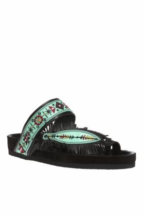 'ebann' fringed slide sandals od Isabel Marant