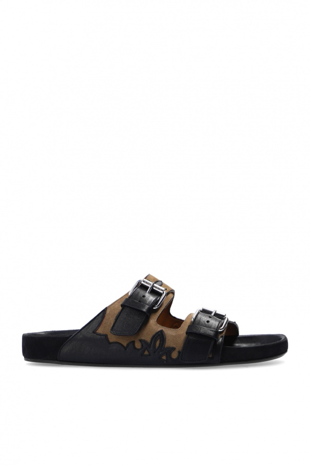 Isabel Marant 'Western Cuts' leather slides