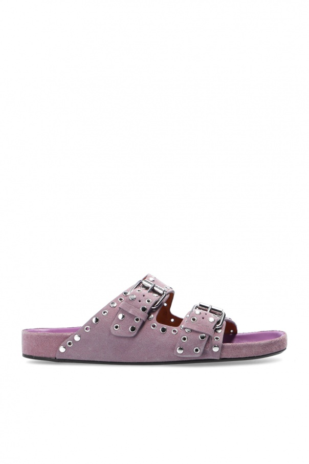 Isabel Marant 'Velvet Studded' leather slides