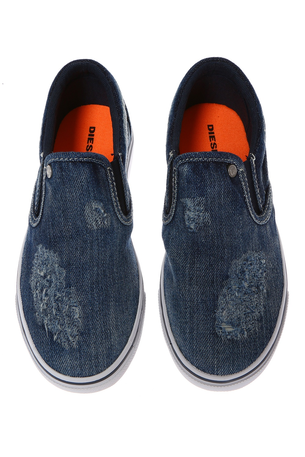 Diesel Kids Denim slip-on sneakers