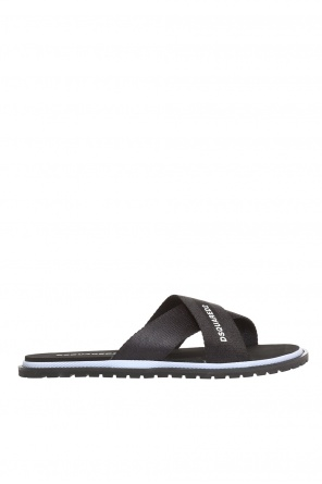 Logo-printed sliders od Dsquared2